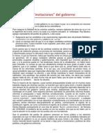 """Las """"Invitaciones"""" Del Gobierno"""