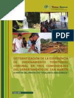 Sistematización de la experiencia de ordenamiento territorial comunal en tres comunidades del departamento de San Martín
