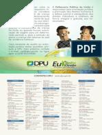 Panfleto DPU - Convenção de Haia