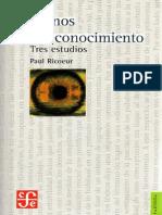 RICOEUR, Paul - Caminos Del Reconocimiento - Tres Estudios