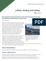 Solar Thermal or PV