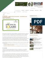 La maison « Prête pour le solaire », gagnante sur tous les fronts _ Nouvelle _ Écohabitation
