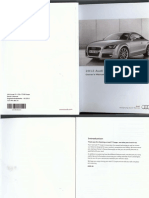 Audi TT, TTS, TTRS Coupé Owners Manual