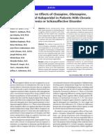 Neurocognitie Effects on Clozapine, Olanzapine, Risperidone and Haloperidol