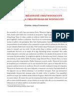 De La Créativité Chez Winnicott. Sobre La Creatividad de Winnicott