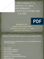 Study on Durability & Properties of High Performance