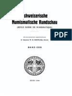 Les monnaies mérovingiennes frappées sur le territoire de la Suisse / par A. Roehrich