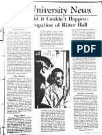 University News - 1969 Occupation of Ritter Hall