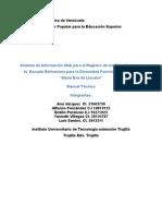 Manual Técnico Sistema de Informacion Web María Eva