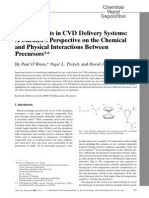 Developments in CVD Delivery Systems-A Chemists Perspective on the Chemical and Physical Interactions Between Precursors