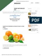 5 Recetas de Remedios Naturales Para El Acido Urico