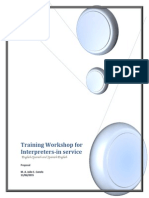 Training Workshop for Interpreters (Proposal)