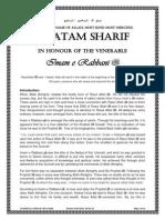 Imam e Rabbani Shaykh Ahmad Faruqi Sirhindi -r-