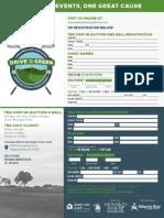 Registration Flyer Golf Tournament 2015
