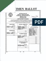 Lexington Town Election Ballot