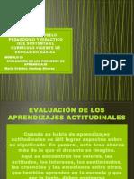 Evaluación de los Aprendizajes Actitudinales