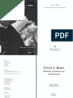 Louis Kahn Conferencias y Escritos
