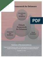 The Climate Framework for Delaware