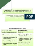 Clase 2 Literatura Hispanoamericana (contexto Histórico y manifestaciones culturales)