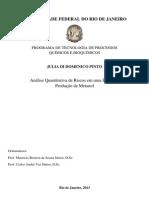 Analise Quantitativa de Riscos Em Uma Planta de Producao de Metanol
