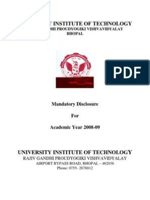 University Institute of Technology (UIT), RGPV, Bhopal