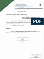 Calendário UFPI Pós 2015