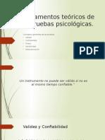 Fundamentos Teóricos de Las Pruebas Psicológicas