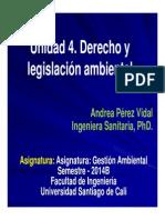 UNIDAD 4. Derecho y Legislación Ambiental