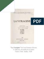 """Ediciones de """"La vorágine"""""""