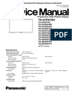 Panasonic TH-37PWD7BX y Otros Modelos (Chassis GP-7D) Manual de Servicio