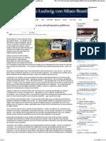 IMB - O Problema Dos Subsídios Aos Investimentos Públicos