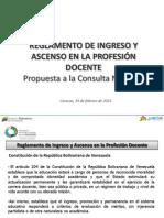 Reglamento de Ingreso y Ascenso en la Profesión Docente
