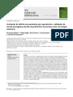 Avaliação Do Delírio Em Pacientes Pós-operatórios - Validação Da