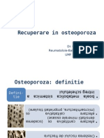 Recuperarea in Osteoporoza