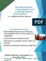 propuestas de Formalización en la Economía Informal