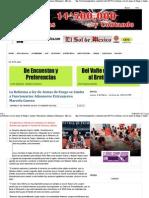 27-02-15 La Reforma a ley de Armas de Fuego se limita a Funcionarios Aduaneros Extranjeros. Marcela Guerra