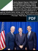 Michael Harris IU Kokomo, President Obama, VP Biden, IU Kokomo Chancellor Installation,  (Kokomo Perspective), פרופסור מייקל הריס