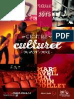 Programme Centre Culturel du Mont-Dore de mars à juillet 2015
