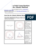 Construct a Fold Cross-Section Using the Arc (Busk) Method
