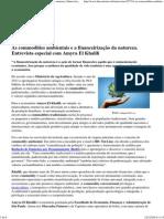 As Commodities Ambientais e a Financeirização Da Natureza