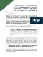 LEGALIDAD Y VIABILIDAD DE LA CONTRATACIÓN DIRECTA BAJO EL RÉGIMEN LABORAL ESPECIAL (CAS) SIN CONCURSO PÚBLICO