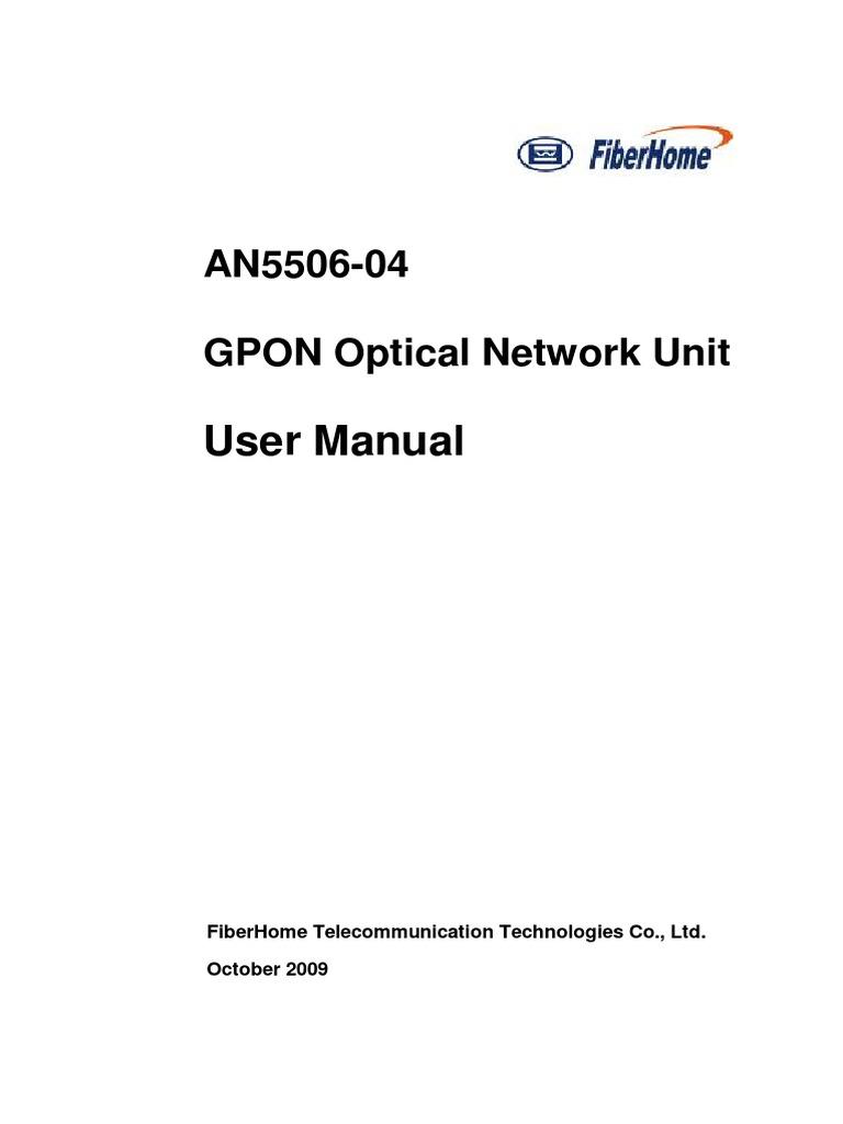 FiberHome User Guide (ONU) | Electrical Connector | Computer Network