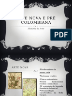 Arte Nova e Pré Colombiana