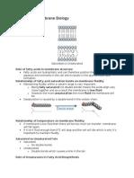 Lecture 5 – Membrane Biology