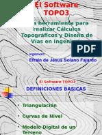 El Software TOPO3, Una Herramienta Para Realizar
