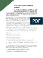 Contrato Individual de Trabajo Por Obra Determinada 2