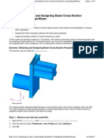 3 Obtaining and Assigning Beam Cross-Section Properties Using HyperBeam