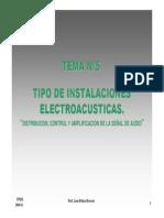 Tema Nº5 -Tipo de Instalaciones Electroacústicas
