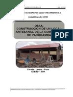 Informe Obra Pacobamba