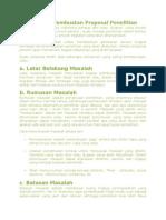 Sistematika Pembuatan Proposal Penelitian